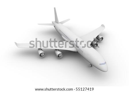 Aiplane - stock photo