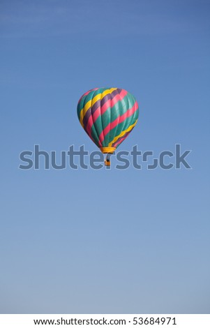 Air balloon on festival - stock photo