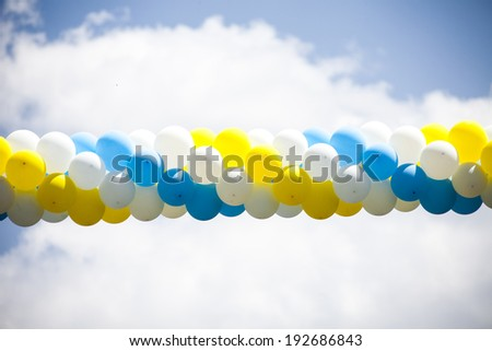 air balloons background - stock photo