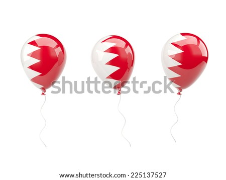 Air balloons with flag of bahrain isolated on white - stock photo