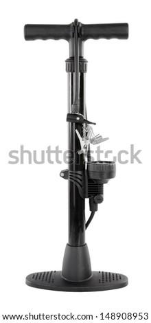 Air bicycle floor pump - stock photo