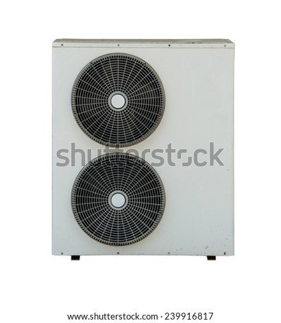 Air compressor isolate on white background. - stock photo