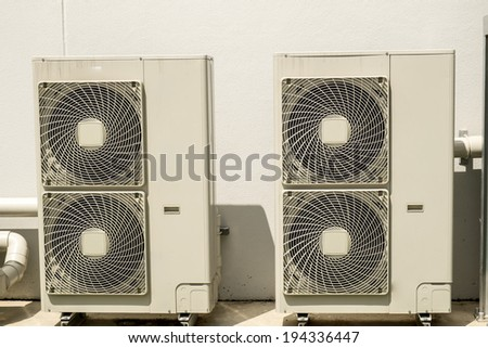 Air Compressor on factory - stock photo