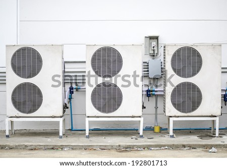 Air compressors - stock photo