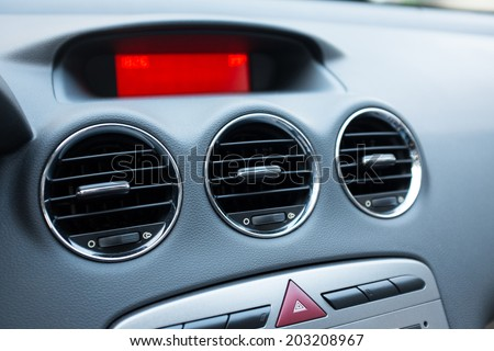Air conditioner in car - stock photo