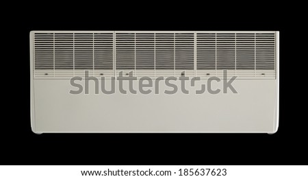 Air conditioner machine bottom side in isolate background. - stock photo