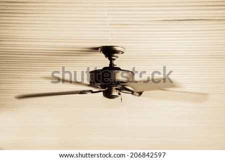 Air conditioner on the ceiling - stock photo