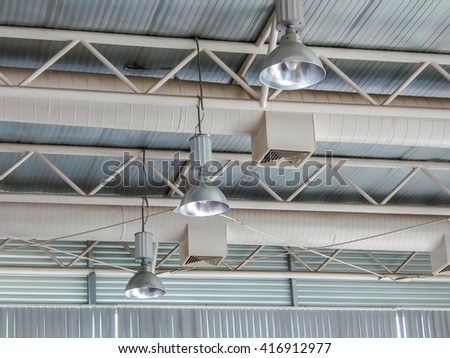 Air conditioning system. Lighting Systems. - stock photo