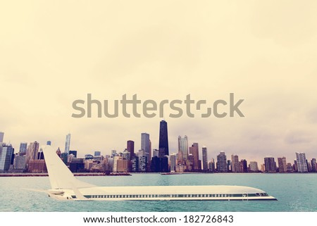 Air Crash in Stormy Day - stock photo