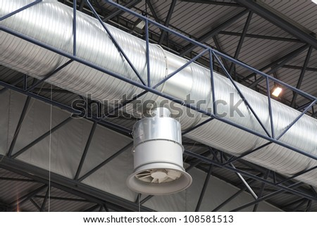 Air duct for extraction and air conditioning - stock photo
