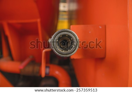Air duct steel - stock photo