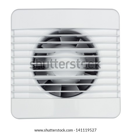 Air exhauster isolated on white background - stock photo