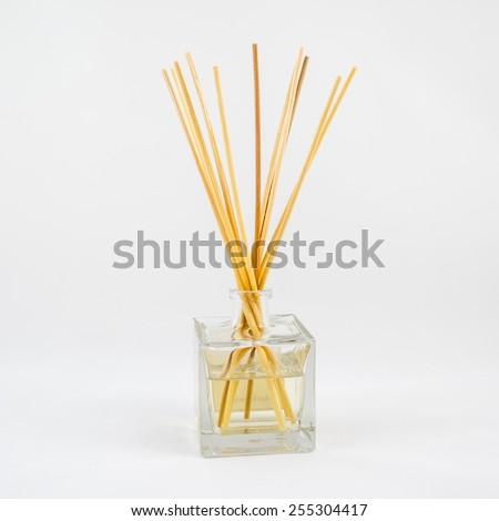 Air freshener sticks isolated on white background - stock photo