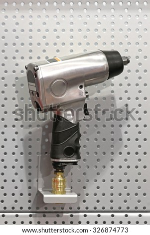 Air Impact Gun Socket Wrench Power Tool With High Torque - stock photo