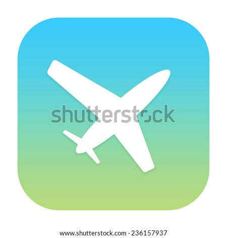 Air plane icon - stock photo