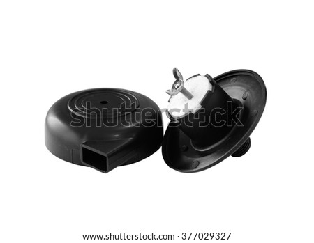 Air Pump Filter disassemble isolated on white background - stock photo