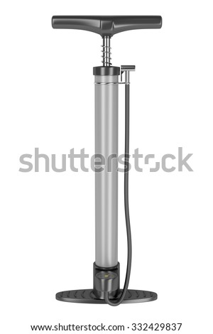 Air pump on white background - stock photo