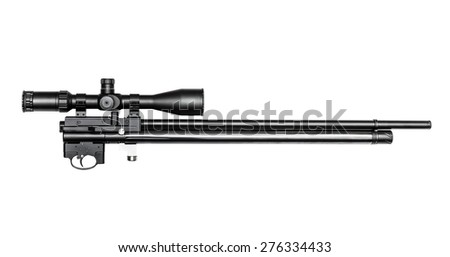 Air rifle without butt, isolated on the white - stock photo