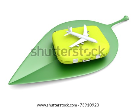 Air travelling. 3D rendered Illustration. Isolated on white. - stock photo