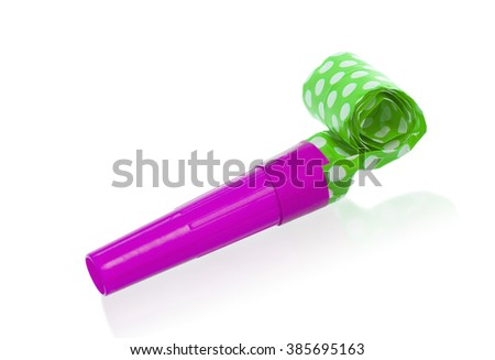Air whistle isolated on a white background - stock photo