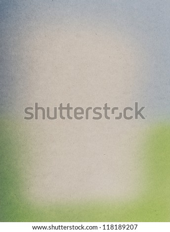 Airbrushed watercolor on vintage paper background - stock photo
