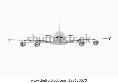 Airbus A380 Miniature Model - stock photo