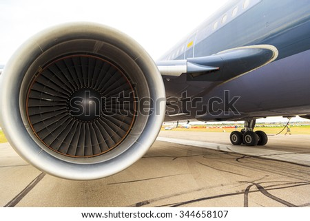 Aircraft Engine - stock photo