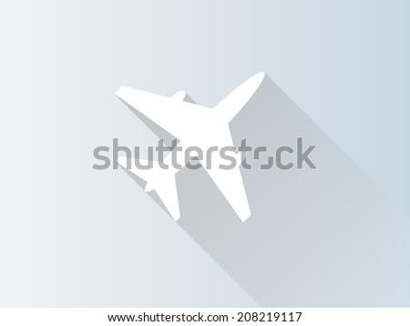 Aircraft illustration, flat icon - stock photo