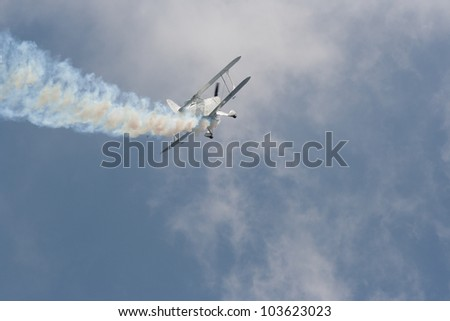 Aircraft in distress - stock photo