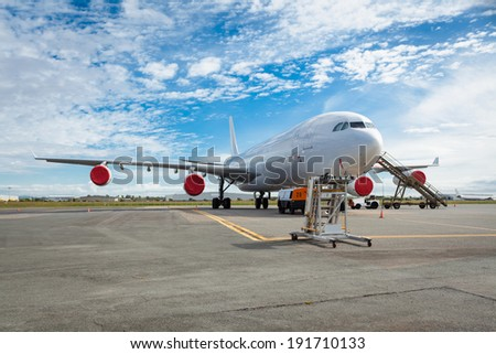 Aircraft on the tarmac - stock photo