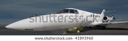 Aircraft parked in the runway in Dubai International Airport - stock photo