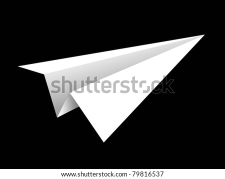 aircraft rocket paper fold to success for design - stock photo