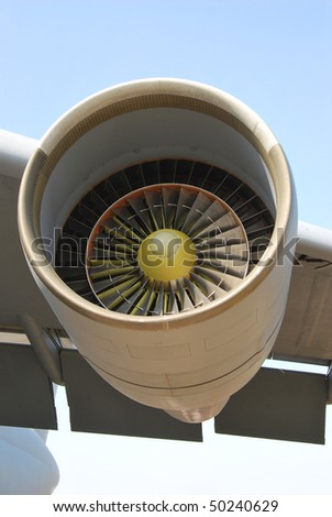 Aircraft turbine - stock photo