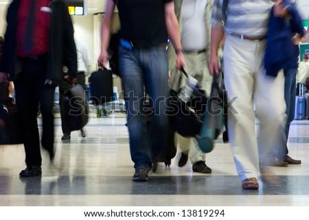 Airline Passengers - stock photo