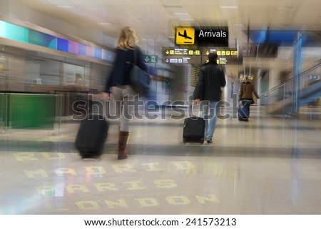Airline Passengers at the Airport - stock photo