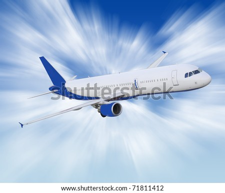 airliner - stock photo