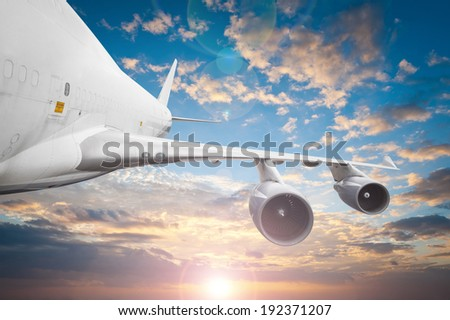Airliner in the sky  - stock photo