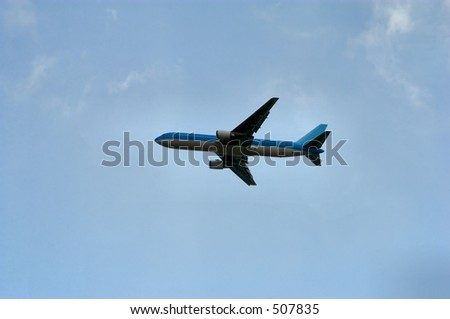 Airliner taking off - stock photo