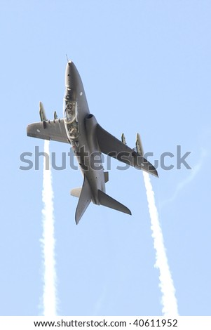 Airplane in sky - stock photo