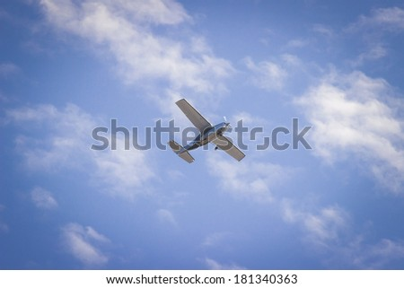 Airplane in the sky. - stock photo
