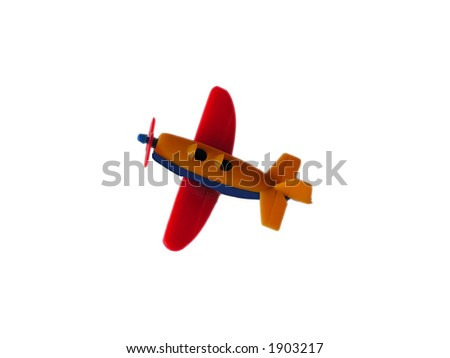airplane - isolated toy - stock photo