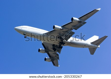Airplane  Lading - stock photo