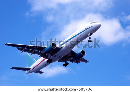 airplane passing - stock photo