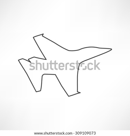 airplane symbol - stock photo
