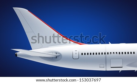 Airplane tail - stock photo