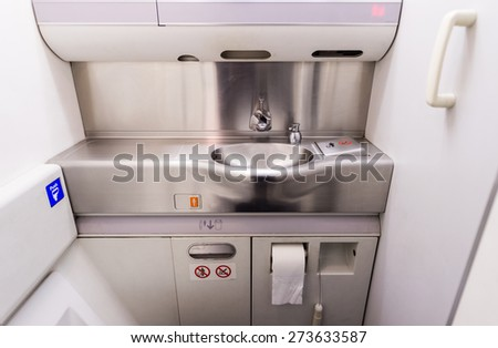 airplane toilets - stock photo