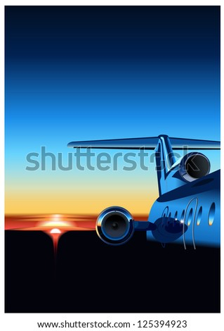 Airplane. Vector version see in my portfolio - stock photo