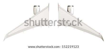Airplane wings - stock photo