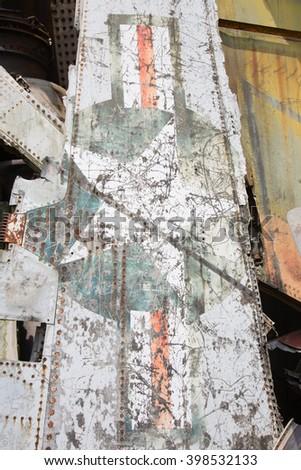Airplane wreckage   - stock photo