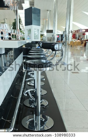 airport cafe - stock photo